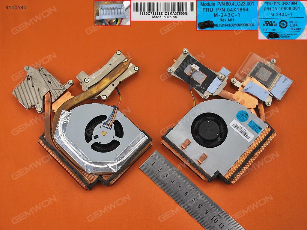 Lenovo Thinkpad W540 T540(For Discrete Video card,Heatsink) Laptop Fan PN:04X1895  PN:04X1894
