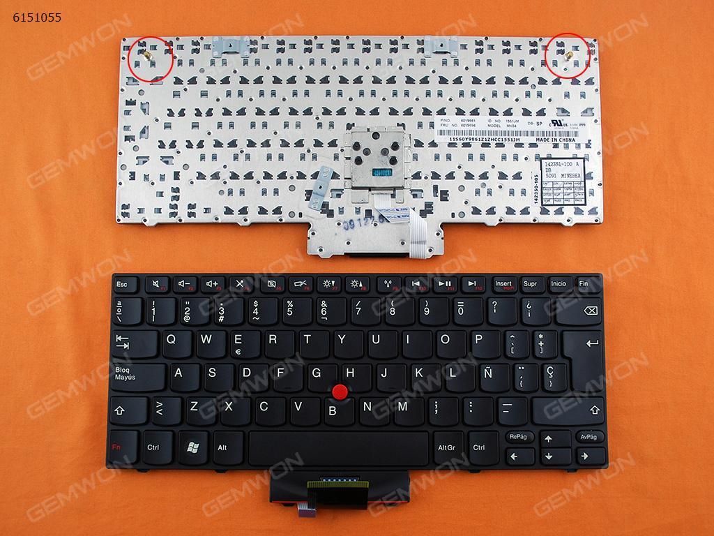 ThinkPad X100E  X120E  BLACK FRAME BLACK(With Point stick,Red Printing) SP N/A Laptop Keyboard (OEM-B)