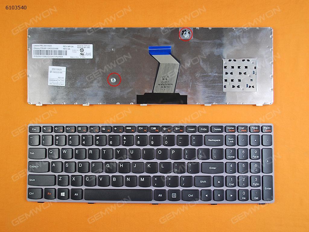 LENOVO Y570 PINK FRAME BLACK(For Win8) US 25010825   MP-10K53US-686 Laptop Keyboard (OEM-B)