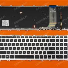HP ENVY 15-j Series SILVER FRAME BLACK( BLACKlit, For Win8) RU 9Z.N9HBV.40R    6037B0093222 Laptop Keyboard (OEM-B)