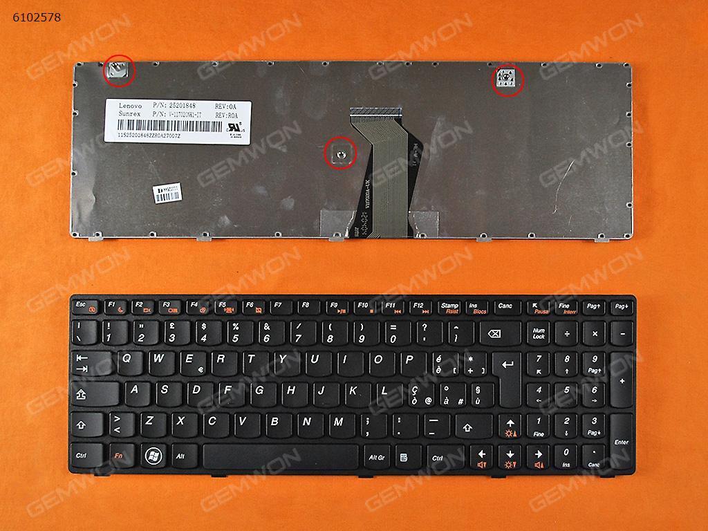 LENOVO Ideapad Z580 V580 G580 BLACK FRAME BLACK IT V117020NK2 Laptop Keyboard (OEM-B)