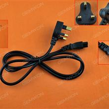UK Plug AC Power Cord Cable For Laptop Adapter Power Cord UK