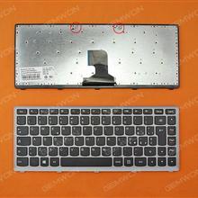 LENOVO Z400 SILVER FRAME BLACK(For Win8) IT N/A Laptop Keyboard (OEM-B)