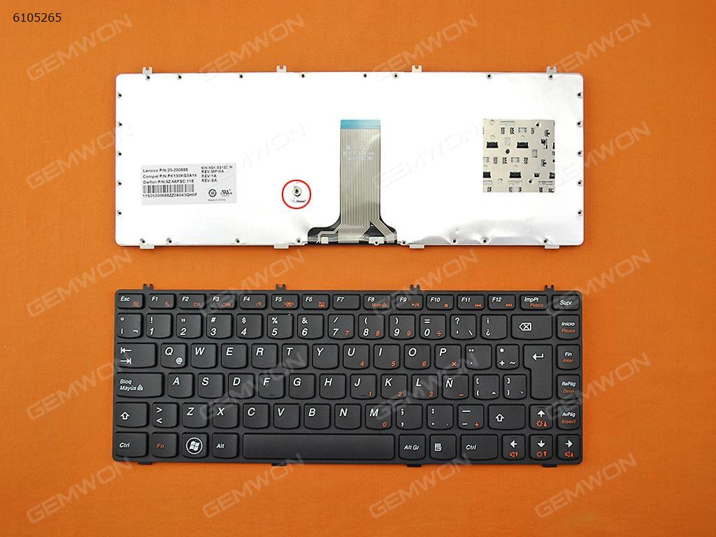 Lenovo IdeaPad Y470 Y471 Y470M Y470N Y470P BLACK FRAME BLACK LA N/A Laptop Keyboard (OEM-B)