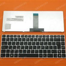 ASUS UL20 SILVER FRAME BLACK(Blue Printing) BE MP-09K26B0-5283 Laptop Keyboard (OEM-B)