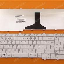 TOSHIBA Satellite C650 C660 L650 L670 L675 L675D WHITE TR 9Z.N4WGQ.10T TN1GQ AEBLBA00010-TR NSK-TN1SC 9Z.N4WSC.10T PK130CK1C20 Laptop Keyboard (OEM-B)