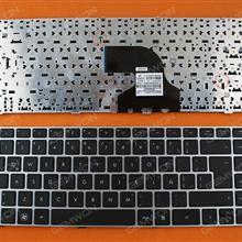 HP ProBook 4330S 4331S 4430S 4431S 4435S 4436S Series Silver FRAME BLACK LA N/A Laptop Keyboard (OEM-B)
