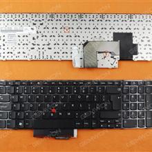 ThinkPad E520 GLOSSY FRAME BLACK(With Point stick) UI N/A Laptop Keyboard (OEM-B)