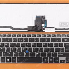 TOSHIBA Z40 GRAY FRAME BLACK (With Point stick,Win8) UI 9Z.NAYBN.21D Laptop Keyboard (OEM-B)