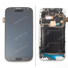 LCD+Touch Screen +FRAME for Sansung Galaxy S4 LTE i9505 blue Phone Display Complete GALAXY S4  I9506