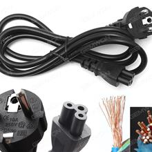 EU Plug AC Power Cord Cable For Laptop Adapter 1.5M 0.75m² Material: Copper(Good quality) Power Cord EU