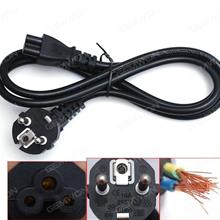 EU Plug AC Power Cord Cable For Laptop Adapter 1.2M 0.5m²,Material: Copper(Good quality) Power Cord EU