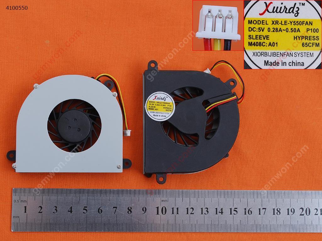 LENOVO IdeaPad Y550 Y550M Y550A(OEM) Laptop Fan AB7005HX-LD3(DC5V 0.38A)   UDQF2JH11CQU