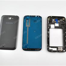 Complete (Upper Frame+Middle Frame+Battery Cover)For SAMSUNG Galaxy Note 2,BLACK Back Cover SAMSUNG N7100