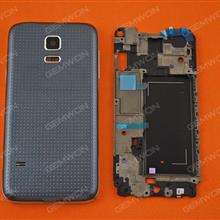 Complete (Upper Frame+Middle Frame+Battery Cover)For SAMSUNG Galaxy S5 Mini,BLACK Back Cover SAMSUNG SM-G800