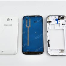 Complete (Upper Frame+Middle Frame+Battery Cover)For SAMSUNG Galaxy Note 2,WHITE Back Cover SAMSUNG N7100