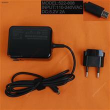 LENOVO 5.2V2A 10.4W Yoga book(Wall Charger Portable Power Adapter)Plug:EU Laptop Adapter 5.2V 2A 10.4W