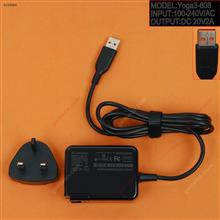 LENOVO 20V2A 40W Yoga3 Pro 13-5Y70 5Y711(Wall Charger Portable Power Adapter)Plug:Uk Laptop Adapter 20V 2A 40W