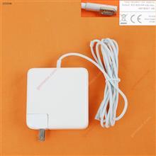 Apple Macbook 18.5V 4.6A 85W Connector Shape L :A1343 A1222 A1297 A1290 A1266 A1260 A1229 A1226 A1211 A1172 A1151 A1150 A1286 A1175  A1222 A1212 (High Copy ) Plug:US Laptop Adapter APPLE MACBOOK 85W