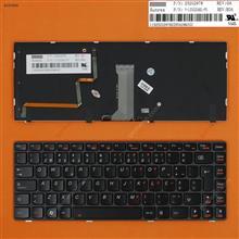 LENOVO Y480 BLACK FRAME BLACK (Backlit) PO 25203009 PK130MZ3B15 9Z.N5TBC.21E Laptop Keyboard