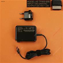 ASUS 15V1.2A 18W TF600 TF810C TF701T(Wall Charger Portable Power Adapter)Plug:EU Laptop Adapter 15V 1.2A 18W