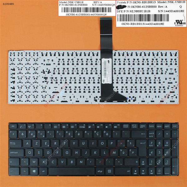 ASUS X550 BLACK(Without FRAME) WIN8 BE N/A Laptop Keyboard (OEM-B)
