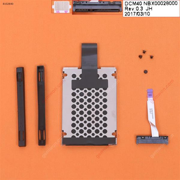 Hard Drive Disk Tray HDD Caddy & Connector Cable For HP Pavilion 14-BF TPN-C131 14-BF111TX 14-BF040TX Cover NBX00028000