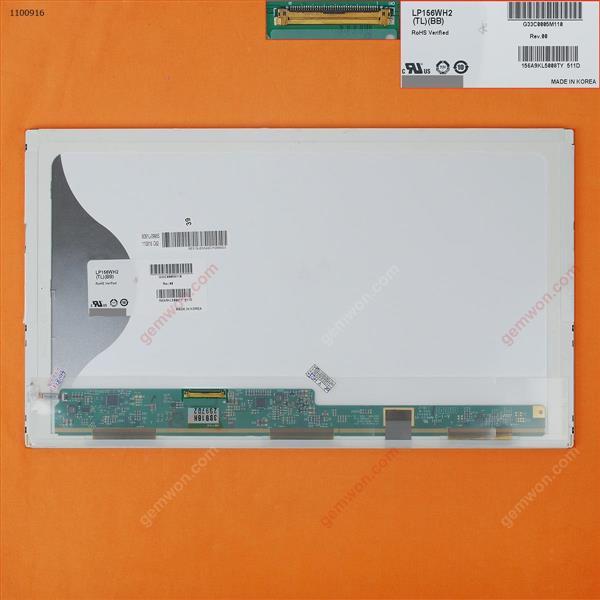 LCD/LED for 15.6'' LP156WH2-TLB1 TLB1 TLA1 TLRB TLQB TLEA fit LP156WH4 B156XW02 N156BGE-L21  1366x768 glossy 40 Pins  glossy bottom left LCD/LED LP156WH2-TLB1 LTN156AT27