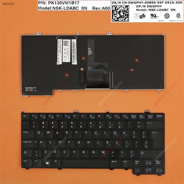 DELL Latitude E7440 E7420 E7240 BLACK (Backlit,Without Point stick,For Win8) UI PK130VM1A35 NSK-LADUC Laptop Keyboard (OEM-B)