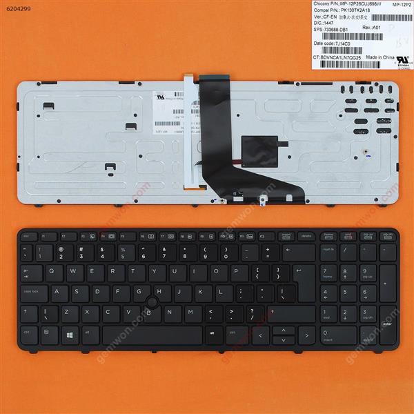 HP  ZBook 15 17 G1 G2  BLACK FRAME BLACK (With Point stick,Backlit,For Win8)Reprint UI MP-12P23USJ698W PK130TK2A00 Laptop Keyboard (Reprint)