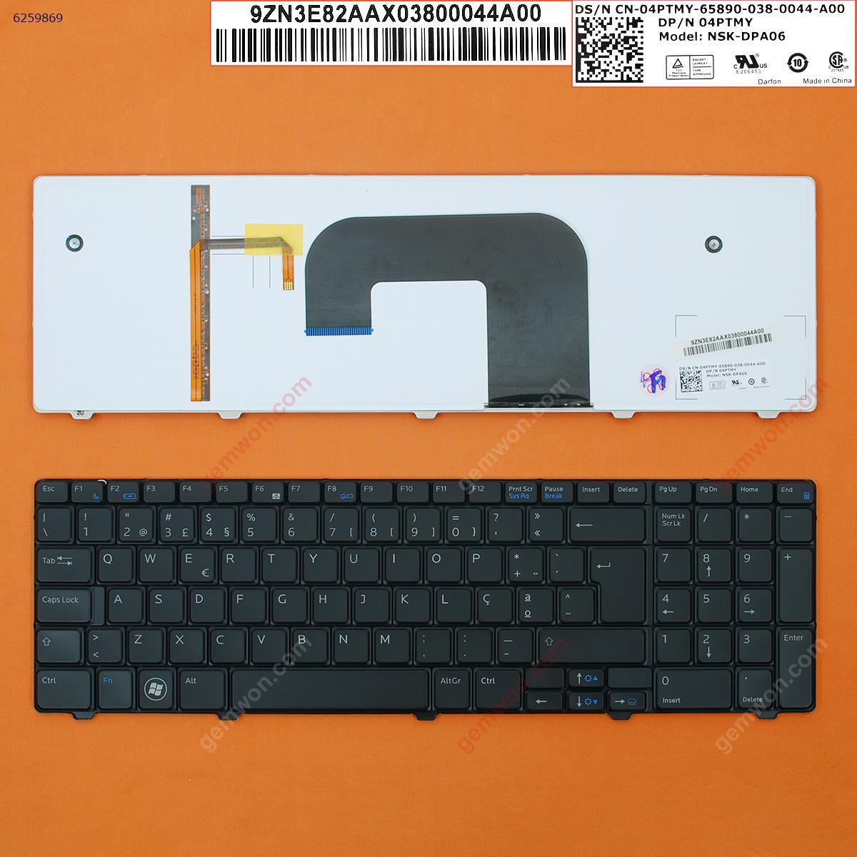 DELL V3700 BLACK,Backlit PO N/A Laptop Keyboard (OEM-B)