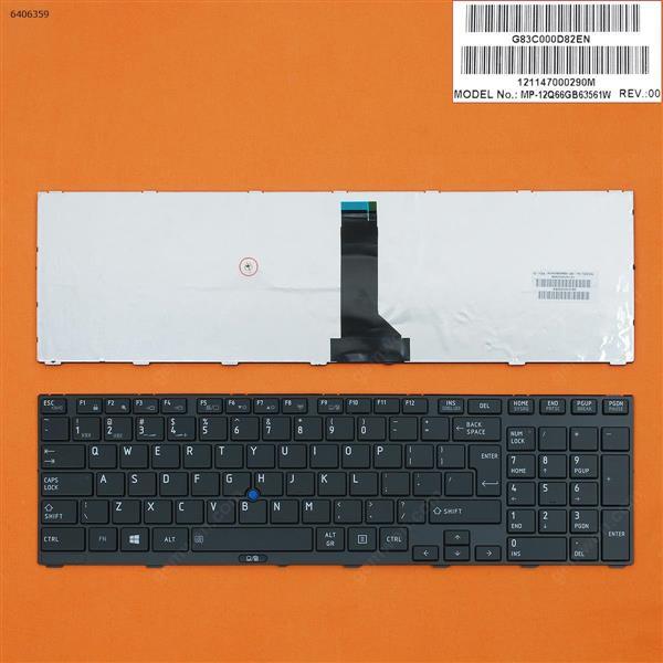 TOSHIBA Tecra R850 BLACK FRAME GLOSSY(With Point stick,WIN8) UI MP-12Q66GB63561W Laptop Keyboard (OEM-B)