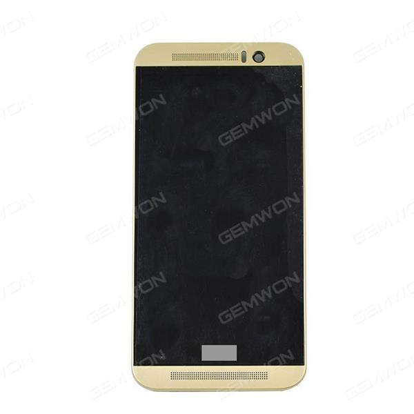LCD+Touch Screen+Frame for For HTC One M9 Golden Phone Display Complete HTC M9