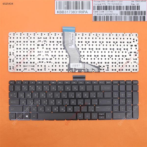 HP Pavilion 15-BS BLACK(Without FRAME,Small Enter,WIN8) AR N/A Laptop Keyboard (OEM-B)