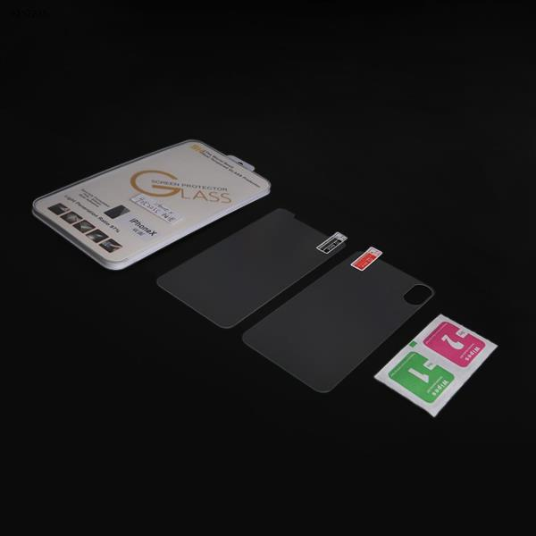 9H Front+Back Tempered Glass Film Screen Protector for Apple iPhone xs max Screen Protector N/A