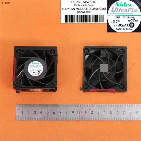 HP DL380E G8 Gen8 Server Cooling Fan(Pulled) Server fan 654577-002