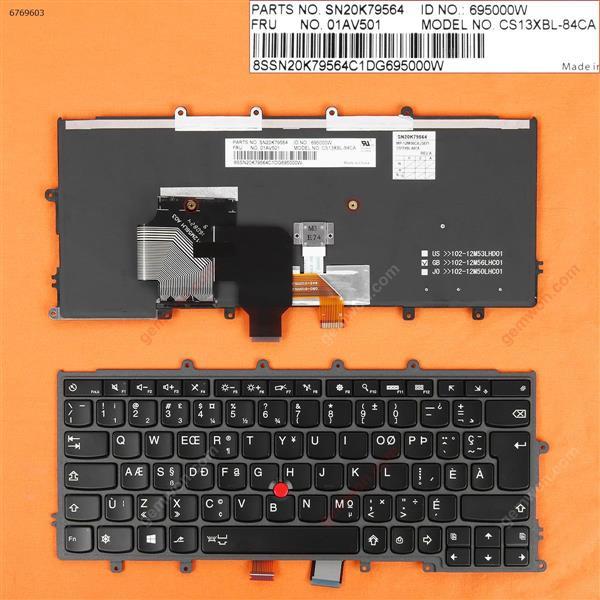 IBM Thinkpad X240 X240S X250 X260 X270 BLACK FRAME BLACK(Backlit ,With Point,For Win8)  CA/CF X240 Laptop Keyboard (OEM-B)