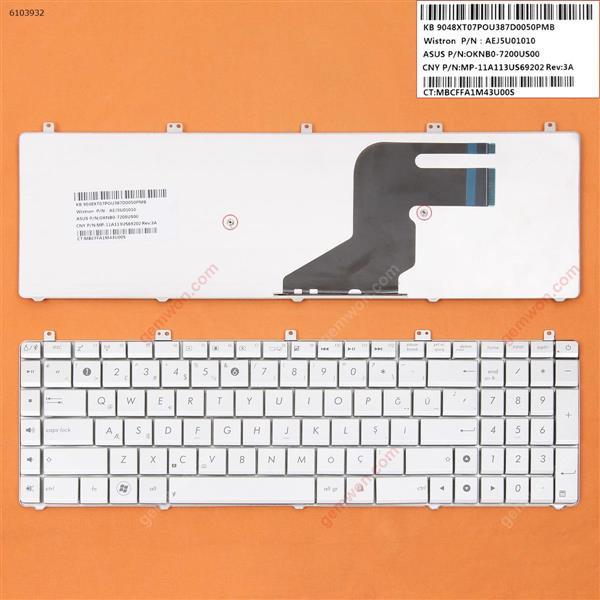 ASUS N55 SILVER (Small Enter ) TR N/A Laptop Keyboard (OEM-B)