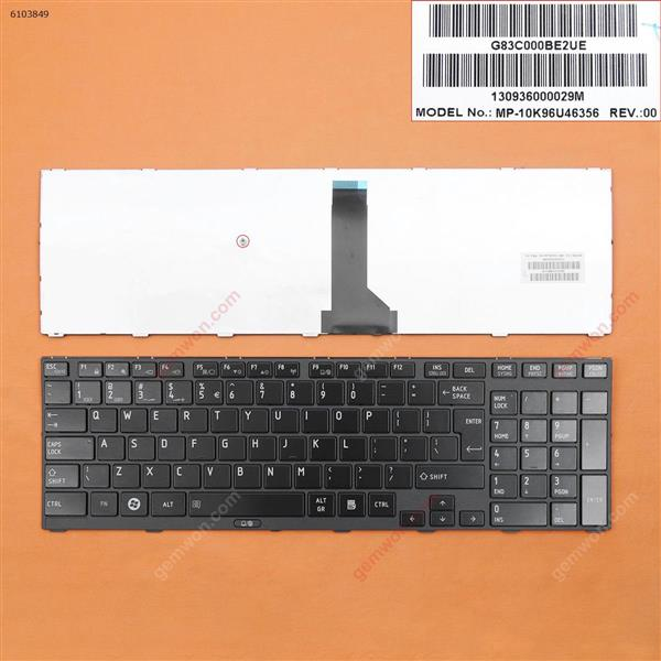 TOSHIBA Tecra R850 BLACK FRAME GLOSSY(Without Point stick) UI N/A Laptop Keyboard (OEM-B)