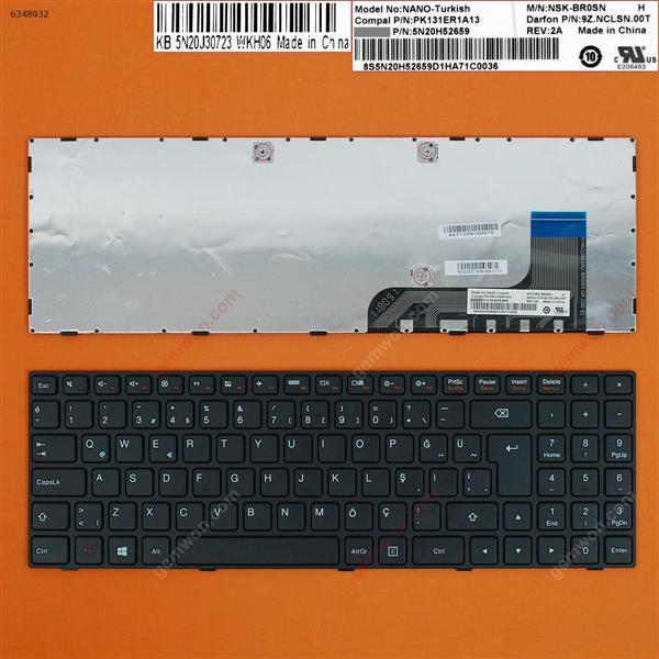 LENOVO Ideapad 100-15IBY BLACK FRAME BLACK WIN8 TR 5N20H52659 Laptop Keyboard (OEM-B)