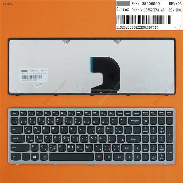LENOVO Z500 SILVER FRAME BLACK(Win8) AR V-136520ES1-AR Laptop Keyboard (OEM-B)
