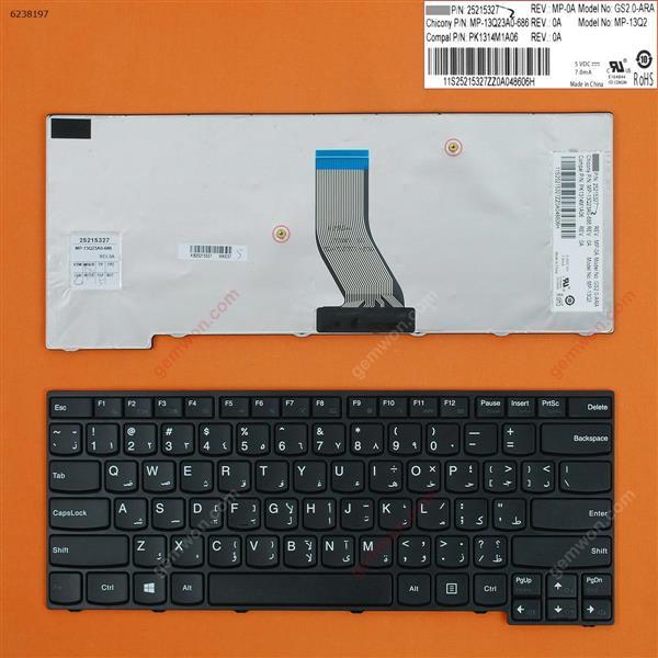 LENOVO E40-70 E40-30 E40-45 E40-80 E40-81 E41-70 BLACK FRAME BLACK win8 AR 25215327PK1314M1A06 Laptop Keyboard (OEM-B)