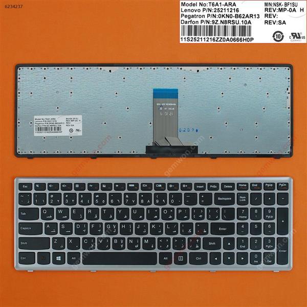 LENOVO U510 SILVER FRAME BLACK(For Win8 OS) AR 252112169Z.N8RSU.10A Laptop Keyboard (OEM-B)