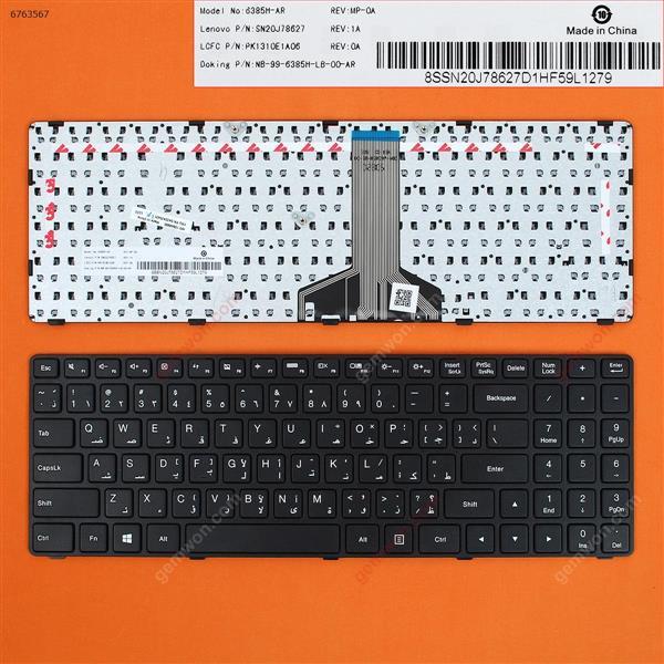 LENOVO Ideapad 100-15IBD BLACK FRAME BLACK WIN8(Long Cable) AR 5N20K25431 Laptop Keyboard (OEM-B)