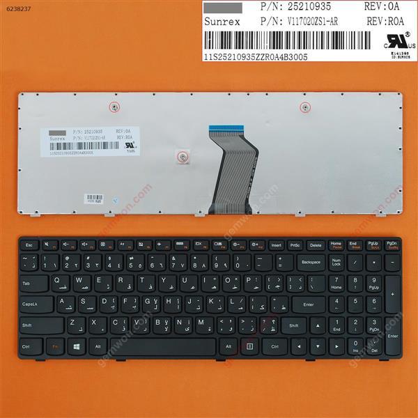 LENOVO G500 G505 G510 BLACK FRAME BLACK (WIN8) AR V117020ZS1-AR Laptop Keyboard (OEM-B)
