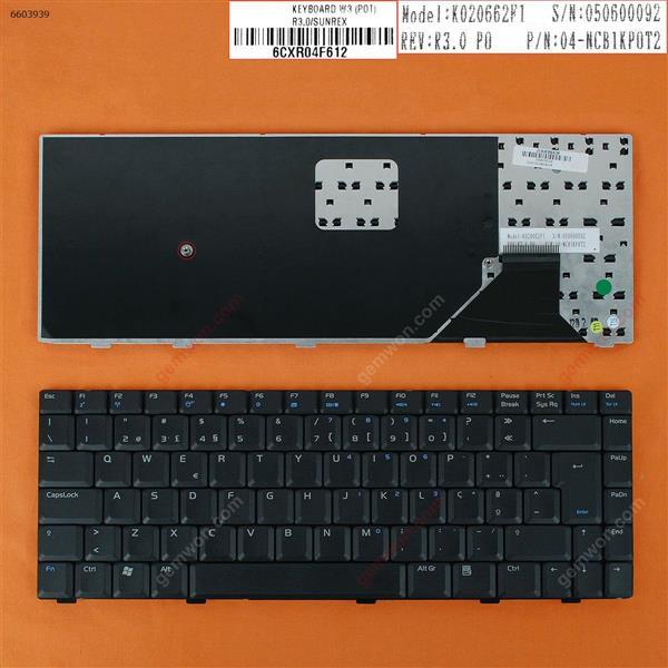 ASUS W3 W3J A8 F8 N80 BLACK