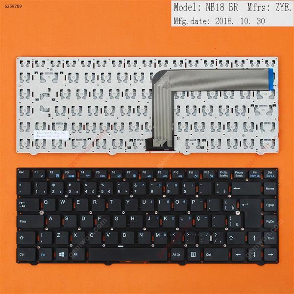 ACER ONE Z1401-C2XW 14E 14F 14 Z1402 14 1401 BLACK (Without FRAME)WIN8 BR KB-NAC-13-F4A (MP-10F88PA-F51G) Laptop Keyboard (OEM-B)