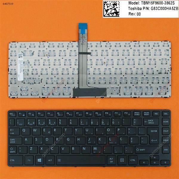 Toshiba Tecra A40-C A40-C1430 A40-C1440 A40-C-18R BLACK FRAME BLACK WIN8 PO N/A Laptop Keyboard (OEM-B)