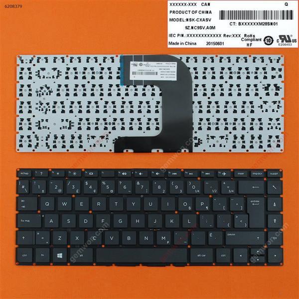 HP Pavilion 14-AC 14-AF BLACK (Without FRAME,Win8) CA/CF 6037B0112801 6K.NC901.001 Laptop Keyboard (OEM-B)