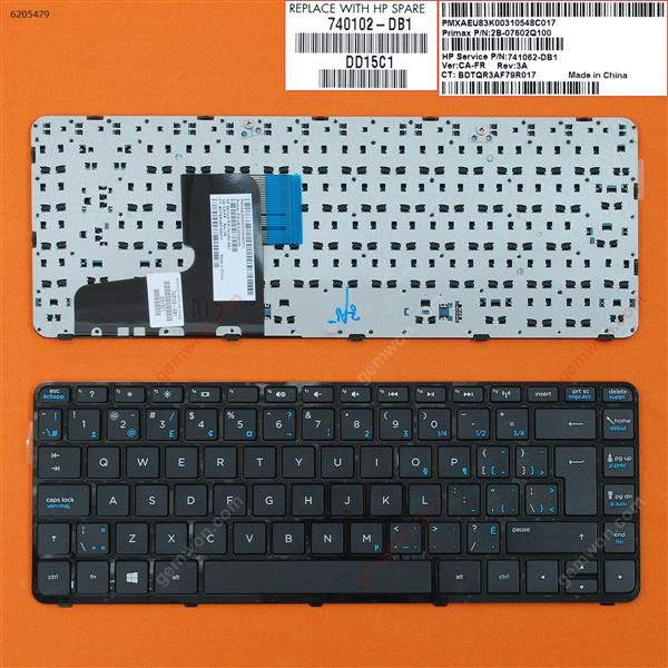 HP Pavilion 14-N BLACK FRAME BLACK(Win8) CA/CF 9Z.N9GSQ.52M Laptop Keyboard (OEM-B)